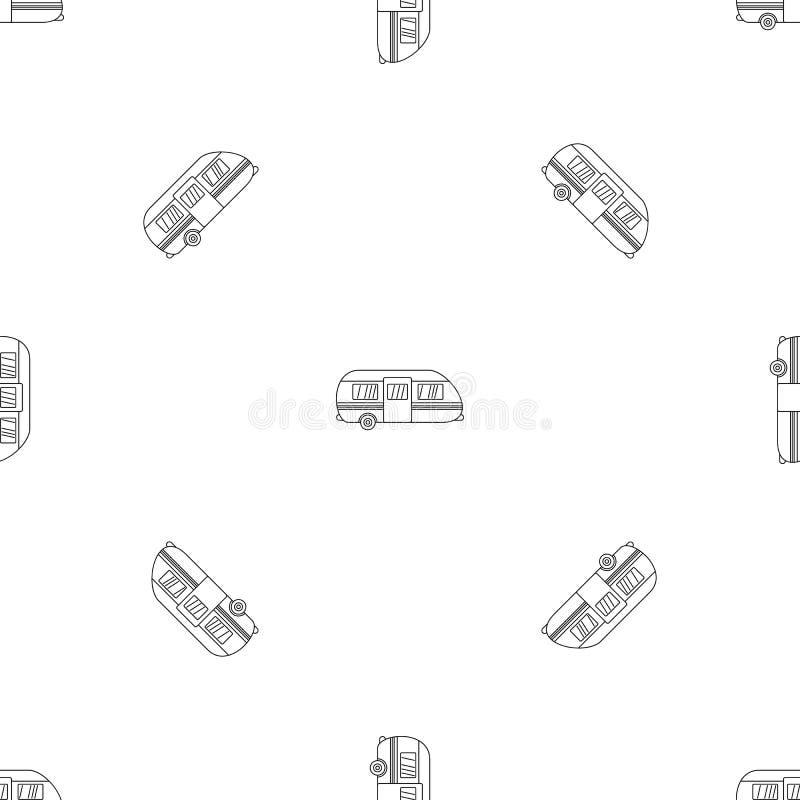 Summer camp trailer pattern seamless vector vector illustration