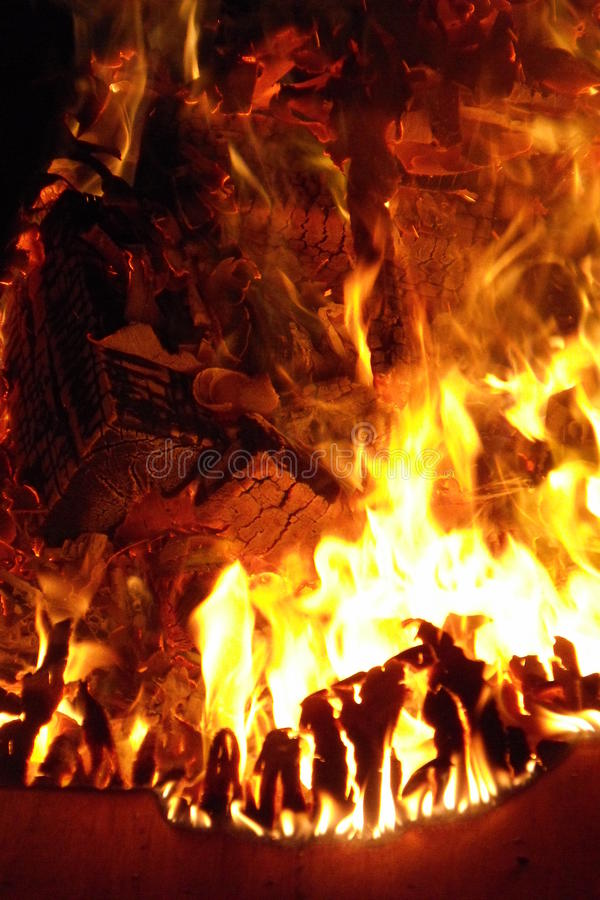 Summer campfire royalty free stock images