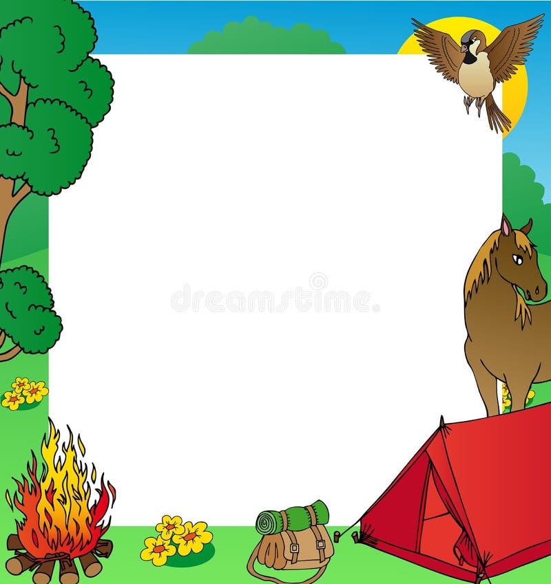 Summer Camping Frame Stock Vector Illustration Of Camping