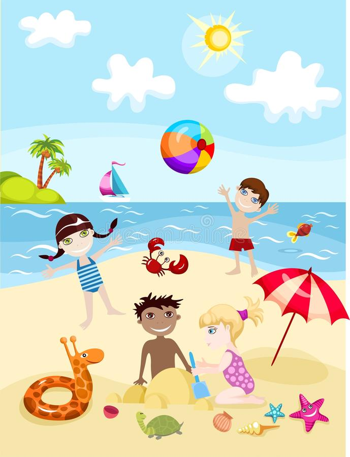 Summer card stock illustration