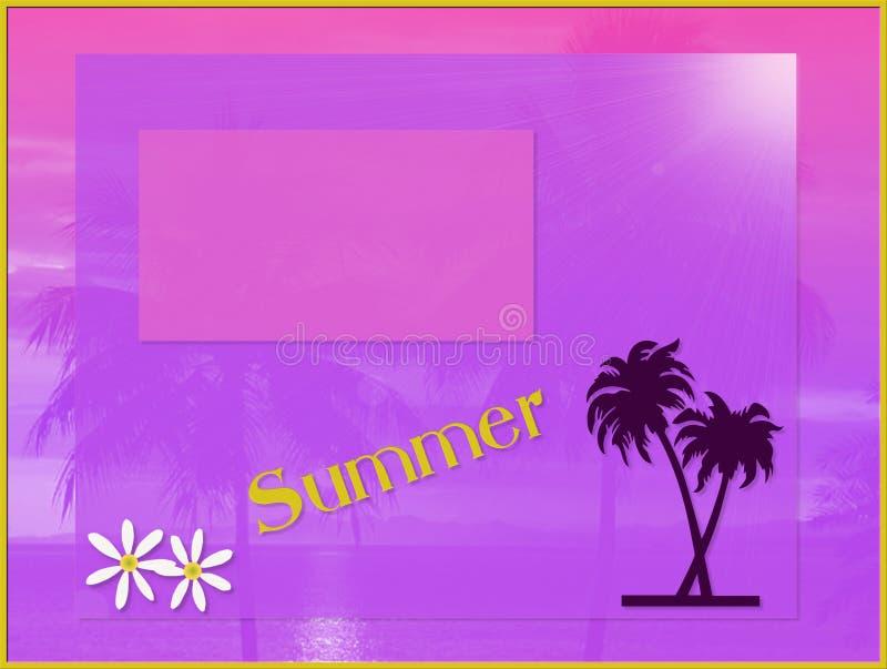 Summer card royalty free stock photo