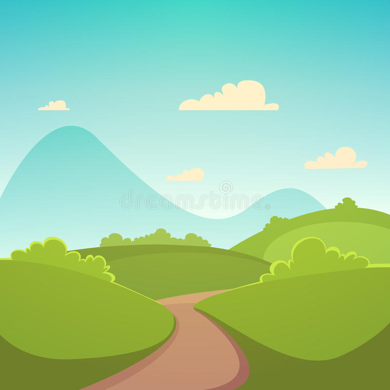 Summer Cartoon Landscape royalty free illustration