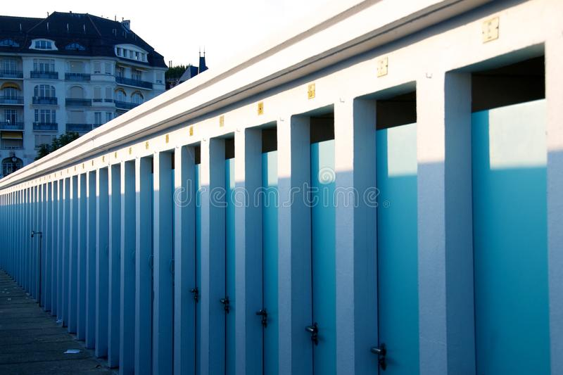 Download Summer changing rooms stock image. Image of many, shadows - 26518939