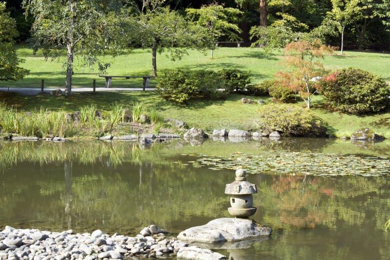 Summer Charm In Japanese Garden Stock Photo