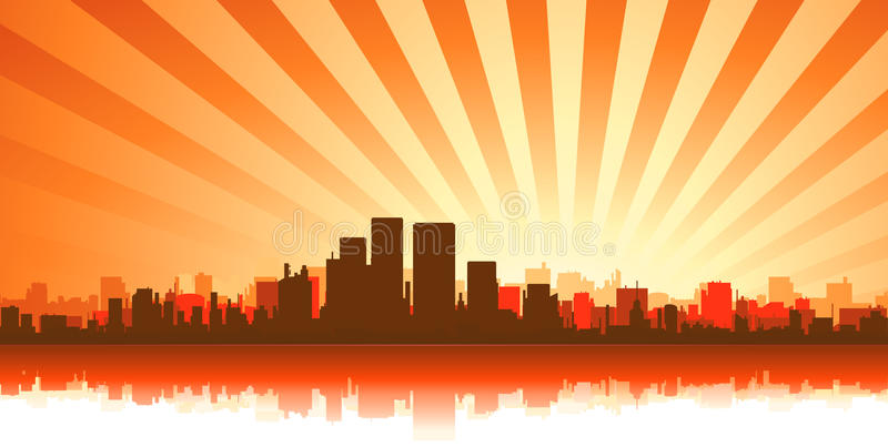 Download Summer Cityscape Background Stock Vector - Illustration: 23915420