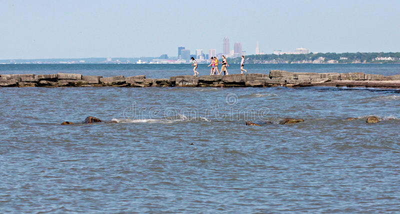 Summer in Cleveland Ohio stock photography