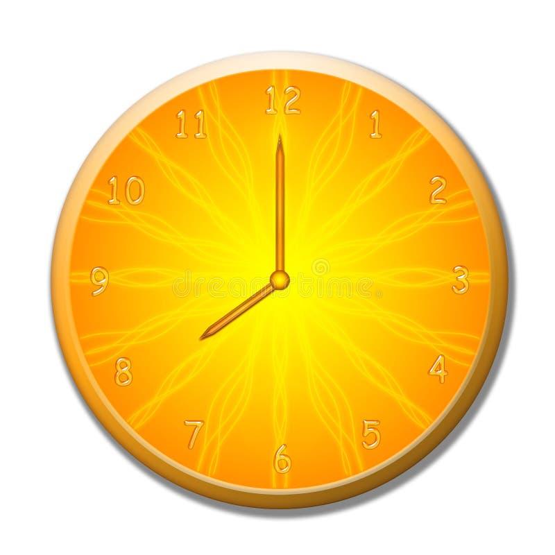 Summer clock stock illustration