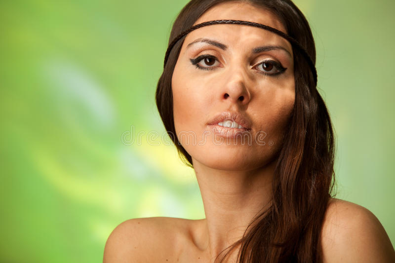 Summer close-up beauty portrait royalty free stock images