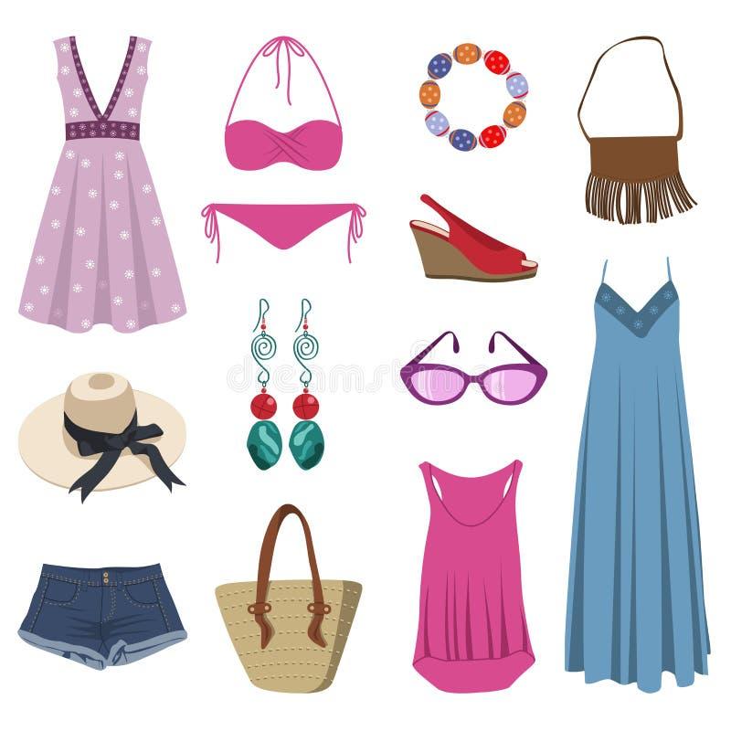 summer clothing stock vector illustration of female. Black Bedroom Furniture Sets. Home Design Ideas