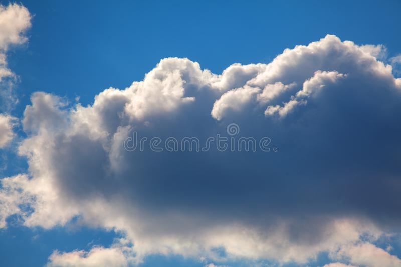 Summer clouds. Landscape with summer clouds and blue sky royalty free stock images