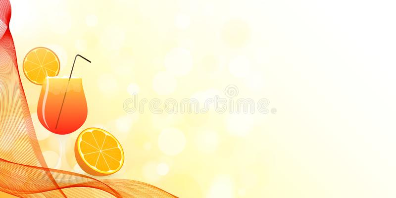Summer cocktail design with wavy veil. vector illustration