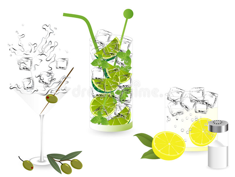 Download Summer cocktails stock vector. Image of salt, mojito - 31932894