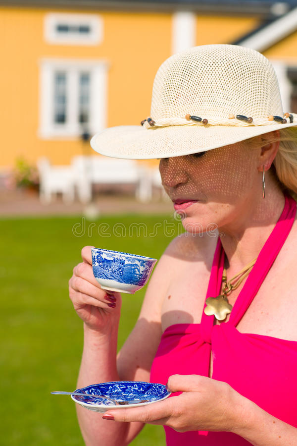 Download Summer and coffee stock image. Image of hold, beautiful - 25951345