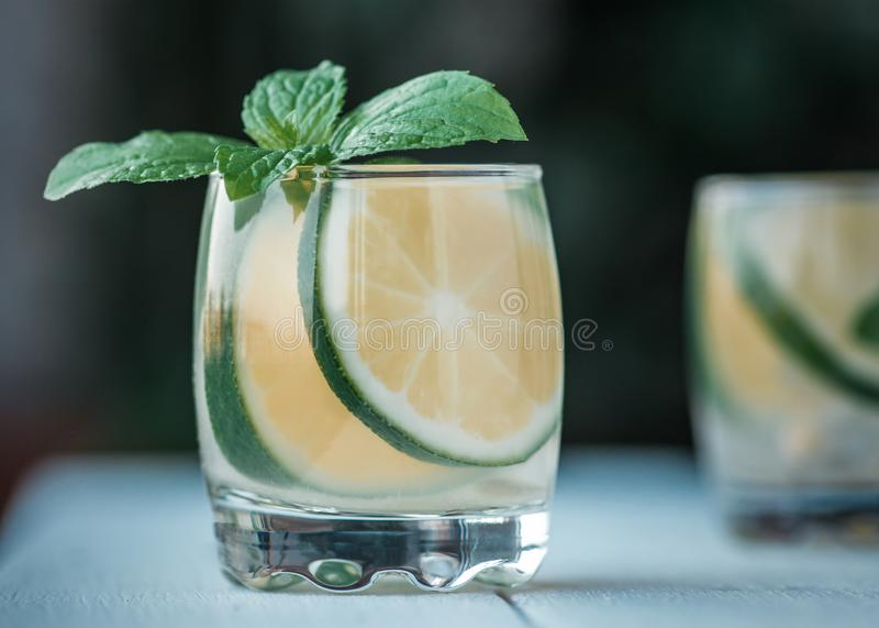 Mint lime tea royalty free stock image