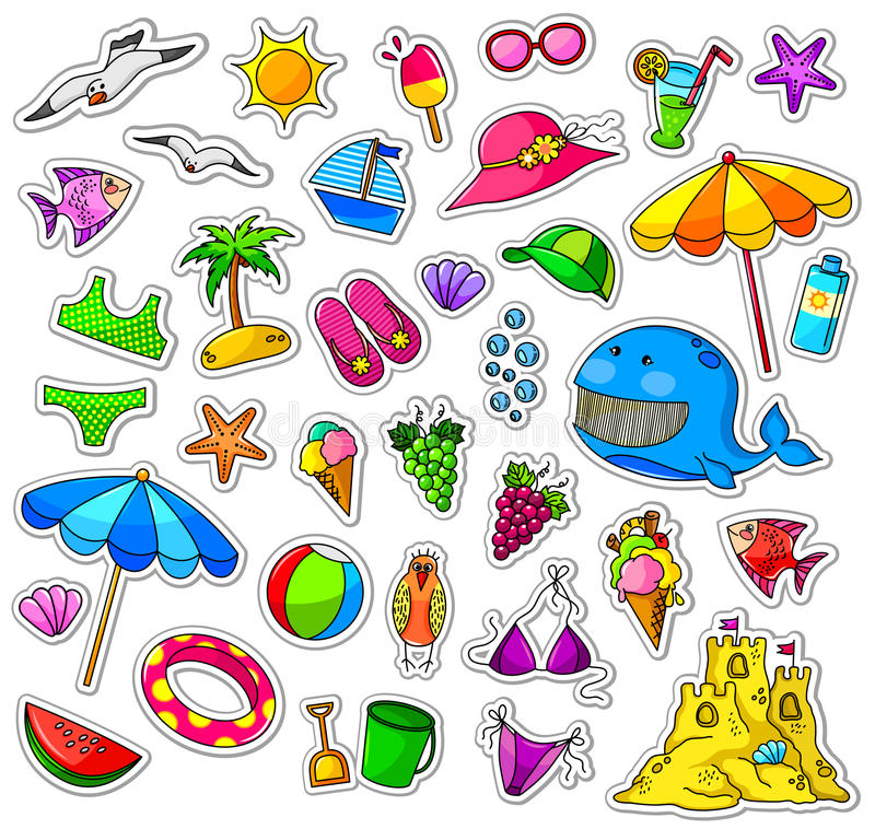 Download Summer collection stock vector. Image of objects, flip - 24489484