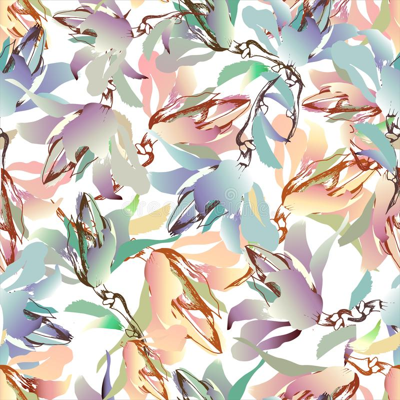 Summer colorful background of flowers. Festive fun texture, watercolor. Vector illustration. Summer colorful background of flowers. Festive fun texture. Colorful royalty free illustration