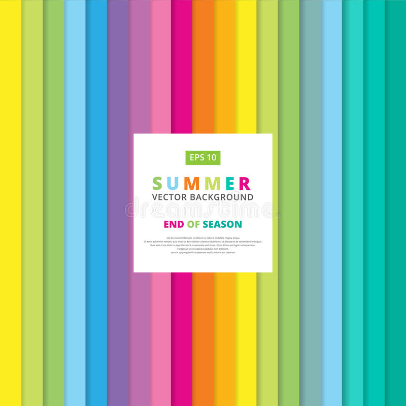 Summer colorful striped vertical line pattern vector royalty free illustration