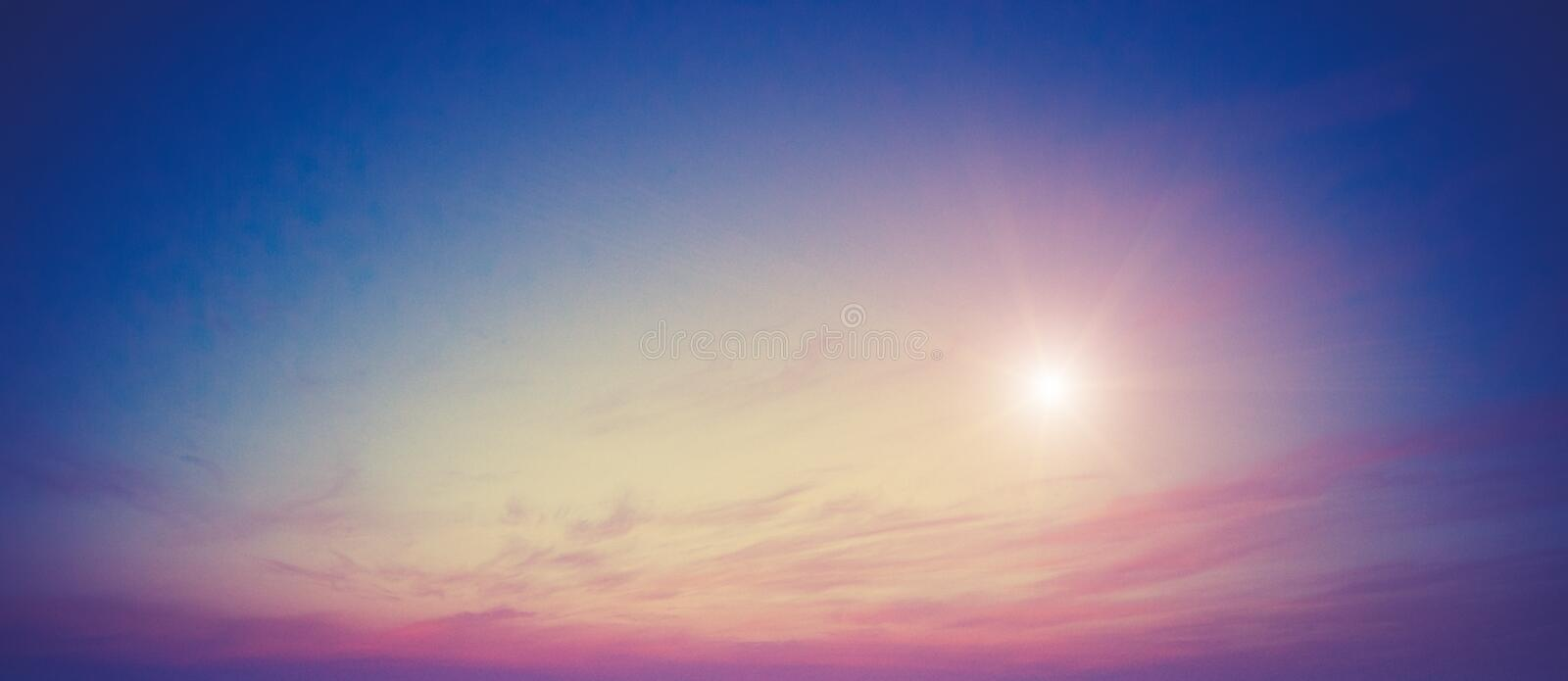 Summer colors sky and clouds royalty free stock images