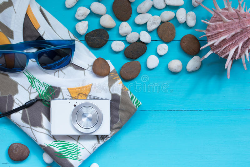 Download Summer Concept With Beach Items Stock Image - Image: 83708947
