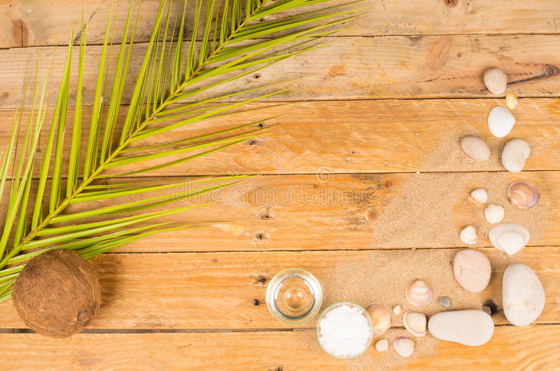 Summer cosmetics background stock photography