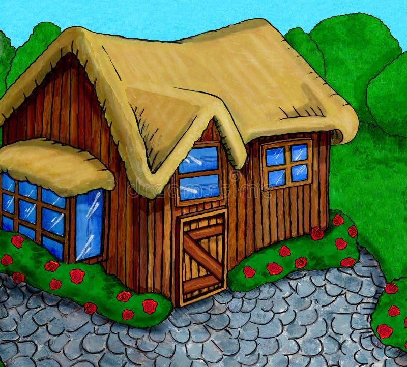 Download Summer Cottage Stock Illustration Of Lane