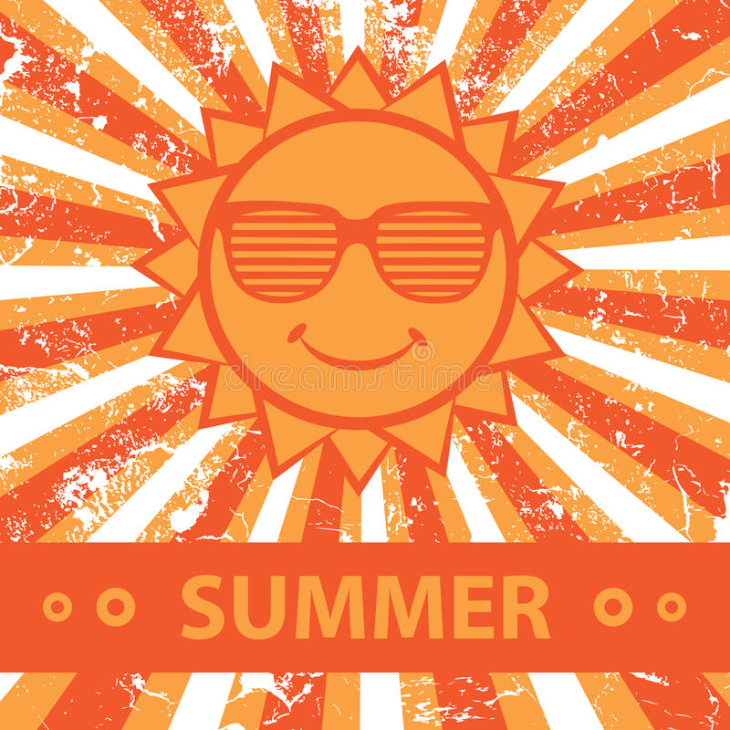 Download Summer. Cute illustration. stock vector. Image of sunglasses - 32836715