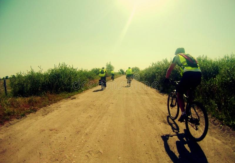 Summer cycling stock images