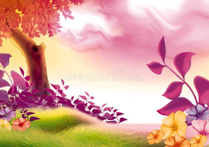 Summer day royalty free illustration