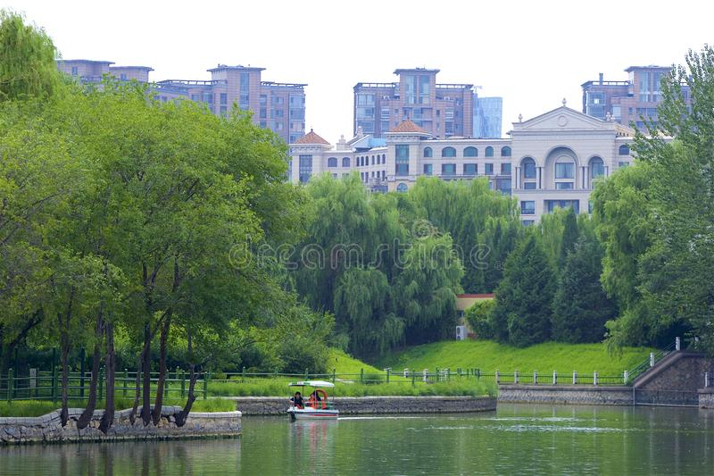 Chaoyang park, Beijing. Summer day in Chaoyang park, Beijing stock photo