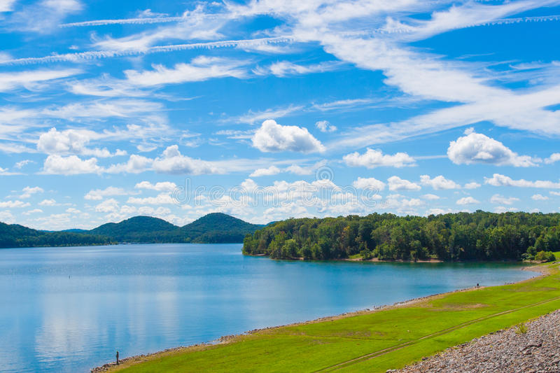 Summer day on lake. stock images