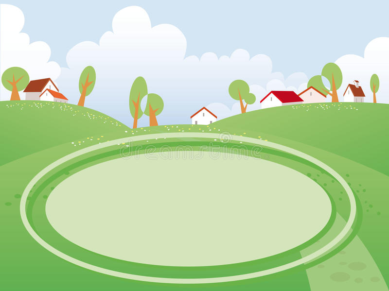 Summer day landscape royalty free illustration