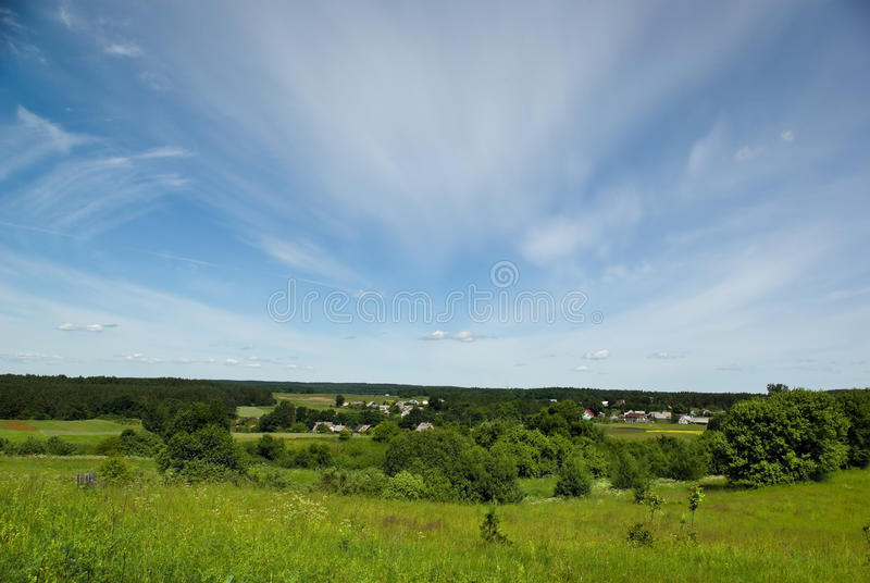 Summer day perspective royalty free stock images