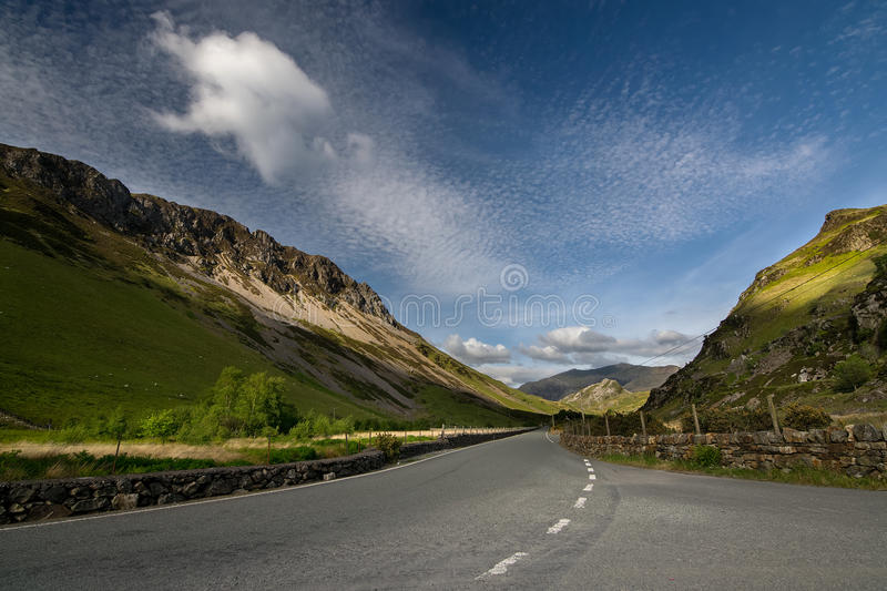 Summer day in Snowdonia stock photography