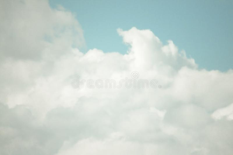 BEAUTIFUL BLUE SKY CLOUD OF SUMMER royalty free stock photo