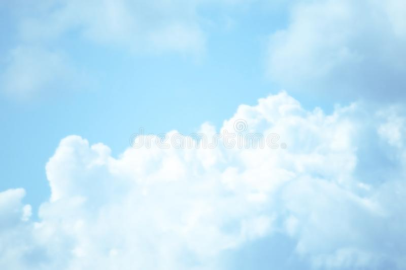BEAUTIFUL BLUE SKY CLOUD OF SUMMER stock images