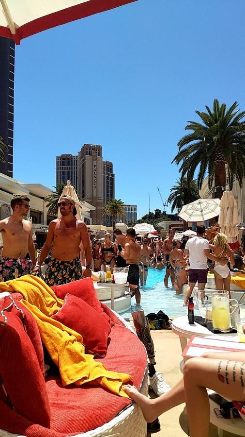 Summer days in vegas royalty free stock photo
