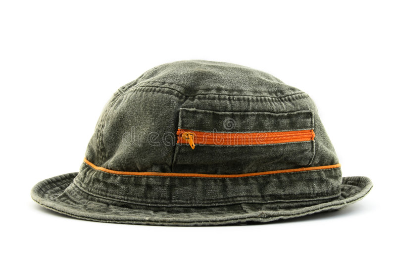 Summer denim hat stock photo