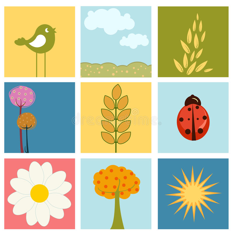 Download Summer design stock vector. Image of floral, insect, background - 12089352