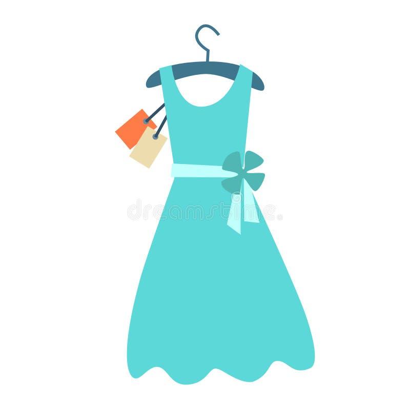 Summer Dress Hanger Price Tag Stock Illustration - Image ...