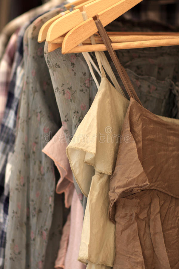 Free Summer Dresses In A Store Royalty Free Stock Photos - 14967538