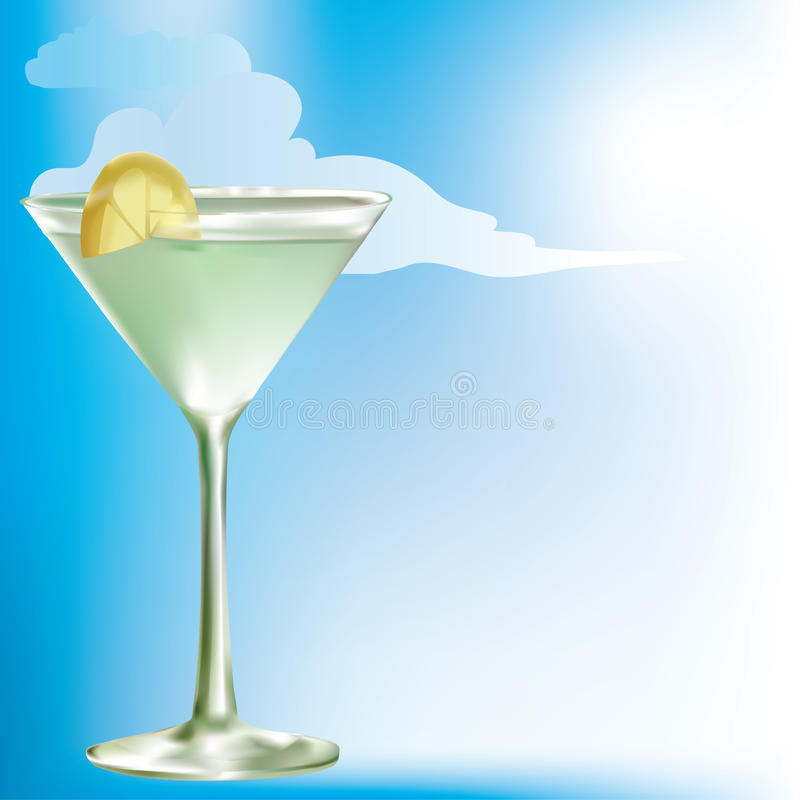 Summer drink of lemonade,juice or wine royalty free illustration