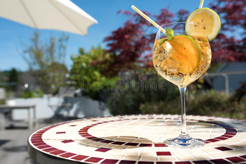 Summer drink on a terrace stock image