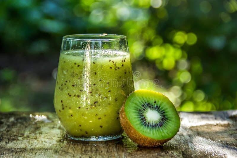 Summer drinks. Fresh Kiwi Juice. Kiwi Smoothie stock photo