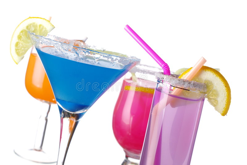 Download Summer drinks on white stock image. Image of cocktail - 8251513