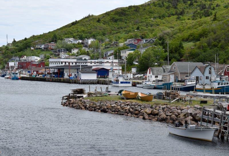Summer East coast scene at Petty harbour Newfoundland stock photos