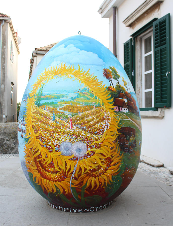 Summer egg stock image
