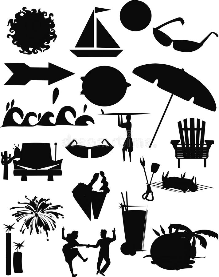 Summer eleemnts stock illustration