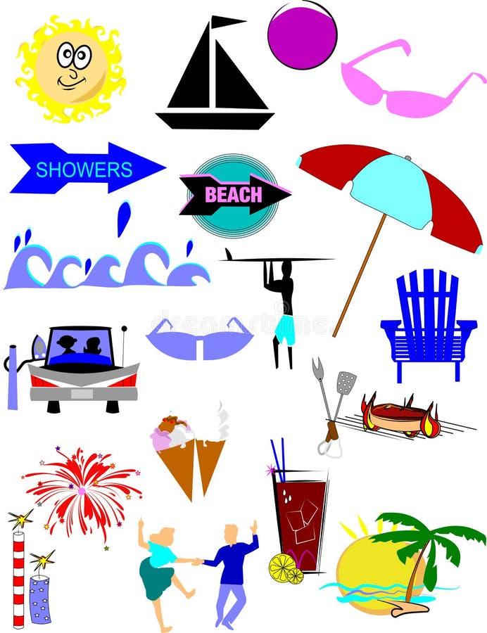 Summer eleemnts royalty free illustration