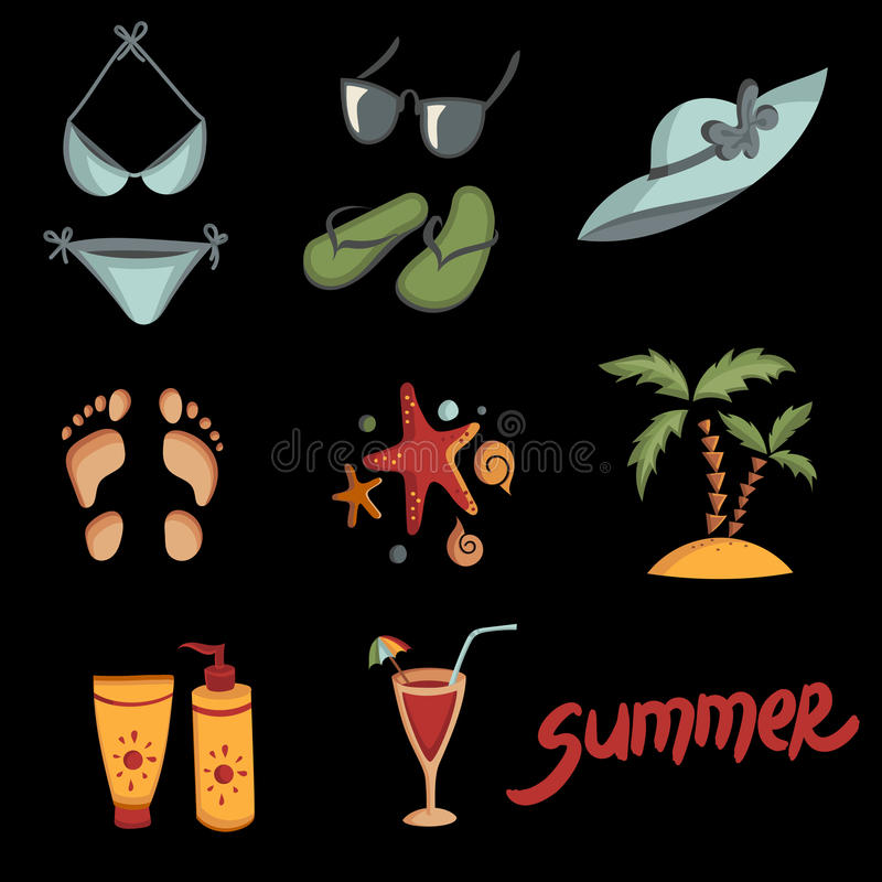 Summer Elements For Your Design Stock Vector