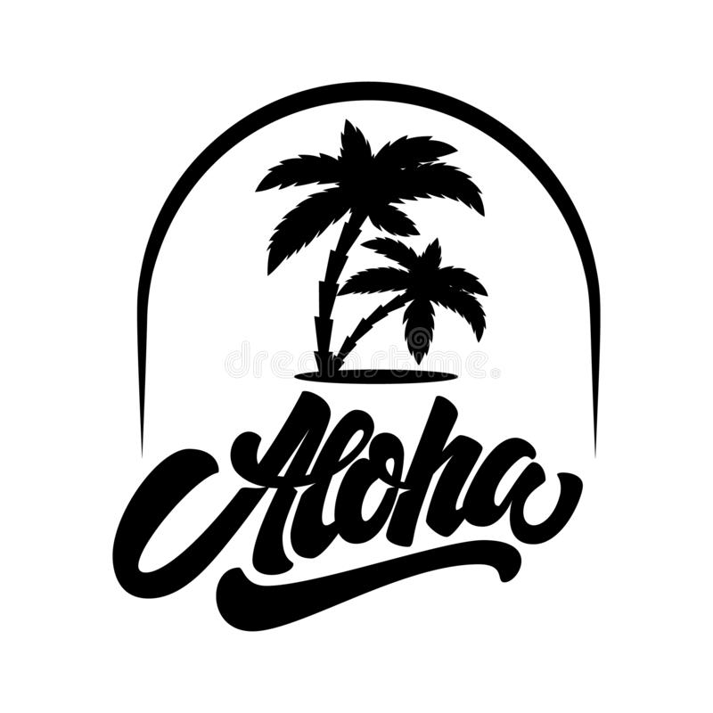 Free Summer Emblem With Palms. Design Element For Logo, Label, Sign, T Shirt Royalty Free Stock Image - 133214036